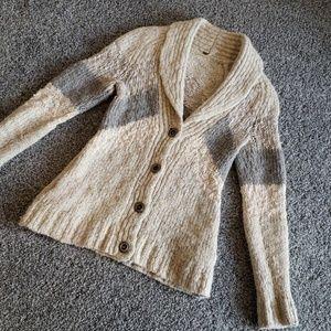 Free People Beige Chunky Sweater Sz Small